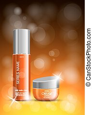 Light beauty cosmetic ads template
