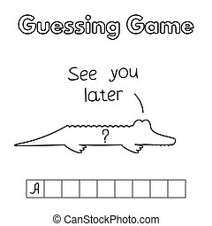 Cartoon Alligator Guessing Game
