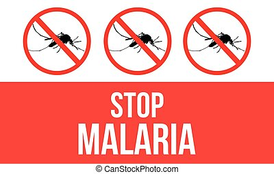 Concept Stop Malaria Background vector illustration...