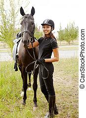 Jockey with horse