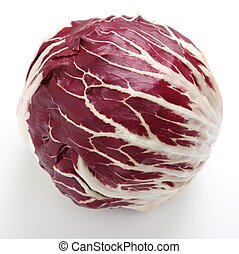 Radicchio. - Radicchio, red salad on white background.