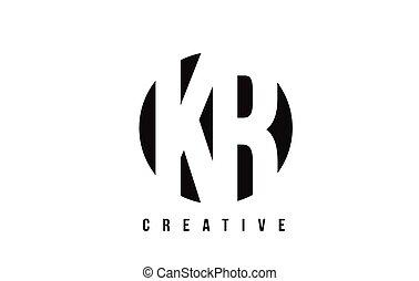KR K R White Letter Logo Design with Circle Background. - KR...