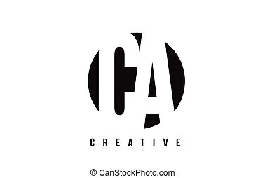 CA C A White Letter Logo Design with Circle Background. - CA...