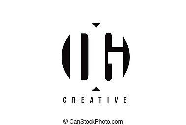 DG D G White Letter Logo Design with Circle Background. - DG...