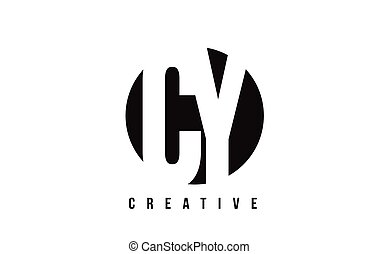 CY C Y White Letter Logo Design with Circle Background. - CY...