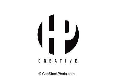 HP H P White Letter Logo Design with Circle Background. - HP...