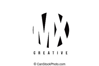 MX M X White Letter Logo Design with Circle Background. - MX...