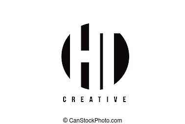 HT H T White Letter Logo Design with Circle Background. - HT...