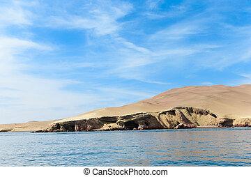 El Candelabro, Ballestas Islands, Peru, South America