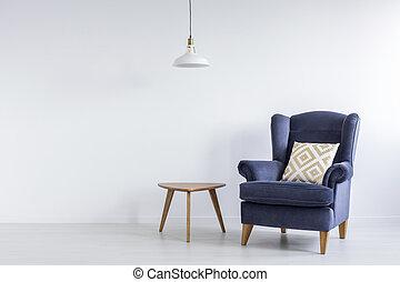 Modest decor of room - Modest decor of white living room...