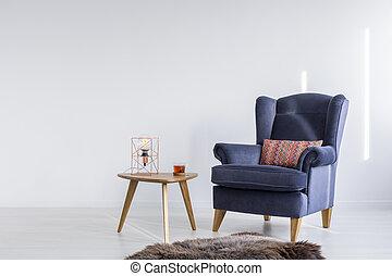 Trendy modest decor of white simple living room