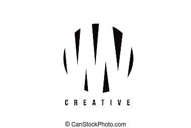 WV W V White Letter Logo Design with Circle Background. - WV...
