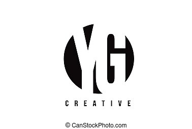 YG Y G White Letter Logo Design with Circle Background. - YG...