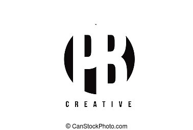 PB P B White Letter Logo Design with Circle Background. - PB...