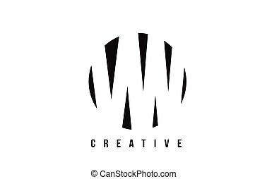 VW V W White Letter Logo Design with Circle Background. - VW...