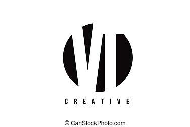 VT V T White Letter Logo Design with Circle Background. - VT...