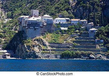 Dionissiou monastery, Athos Peninsula, Mount Athos,...