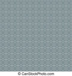 Grey seamless geometric circles vector wallpaper pattern.