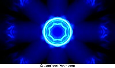 brilliant light pulse and circle background,glass flower...