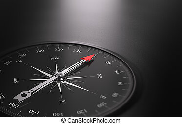 Business Orientation Background, Compass on the Left