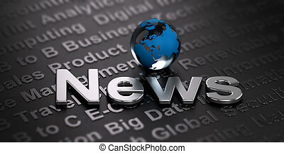 Worldwide News Background. Media Concept