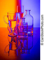 Still life with glass objects