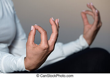 Yoga woman meditating