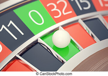 Casino Roulette Las Vegas Gambling Concept. Playing in a Casino Conceptual 3d rendering