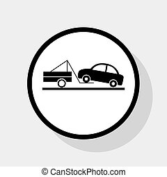 Tow truck sign. Vector.