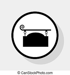 Wrought iron sign for old-fashioned design. Vector. Flat...
