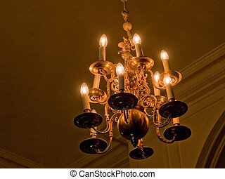 Beautiful Crystal Chandelier - Classical Style Old Beautiful...