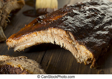 Homemade Saucy Baked Baby Back Ribs Ready to Eat