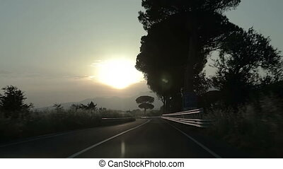 Evening road of Italy.