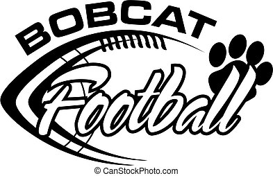 bobcat football team design with football laces for school,...