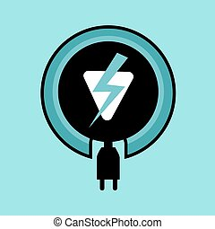 electric power icon - design of electric power icon