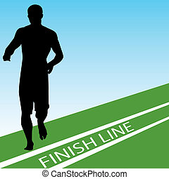 Finish Line - An image of a runner at the finish line.