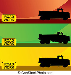 Construction Truck Banner Set