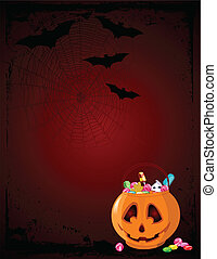 Halloween treats background - A vector background of Jack O...