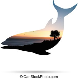 Silhouette of dolphin