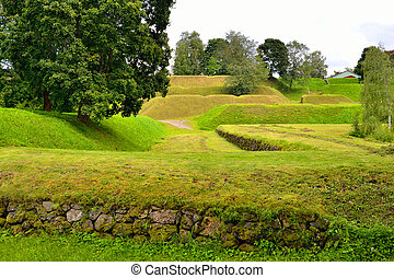 Landscape in the fortress of Lappeenranta, - Spring...