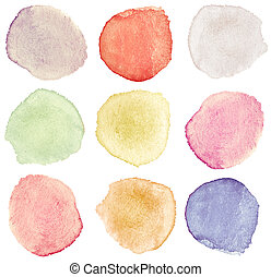 watercolor dots - Abstract watercolor hand painted design...