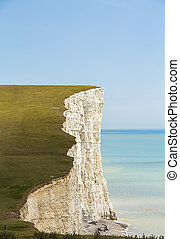 Coastal Cliffs, Seven Sisters, West Sussex - Shot of one of...