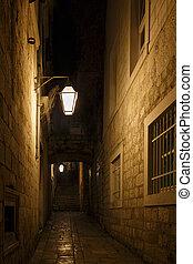 Dark Alley at Night