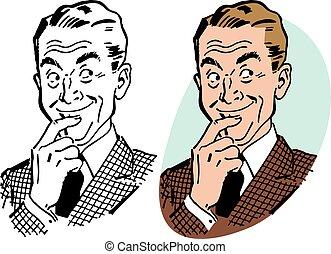 Mischievous Man - A man with a playful mischievous...