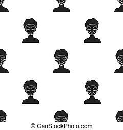 Cosmetic plastic surgery icon in black style isolated on white background. Skin care pattern stock vector illustration.