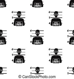 Prisoner's photography icon in black style isolated on white...