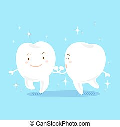 cartoon tooth with whiten