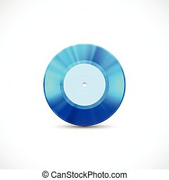 Vinyl disc 7 inch EP with blue grooves, shiny tracks - Vinyl...
