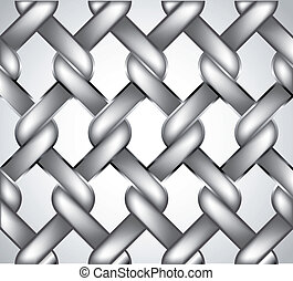 Chain fence. Vector - Chainlink fence isolated against a...