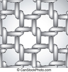 Chain fence Vector illustration - Chainlink fence isolated...